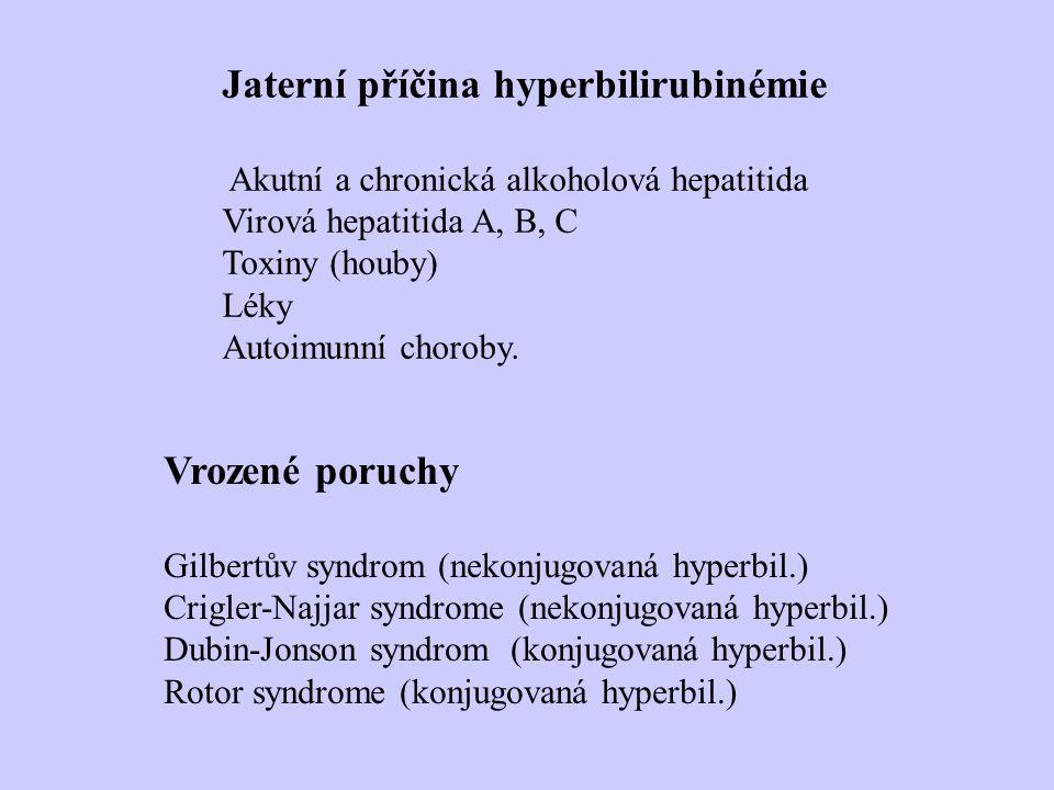 Jaterní příčina hyperbilirubinémie
