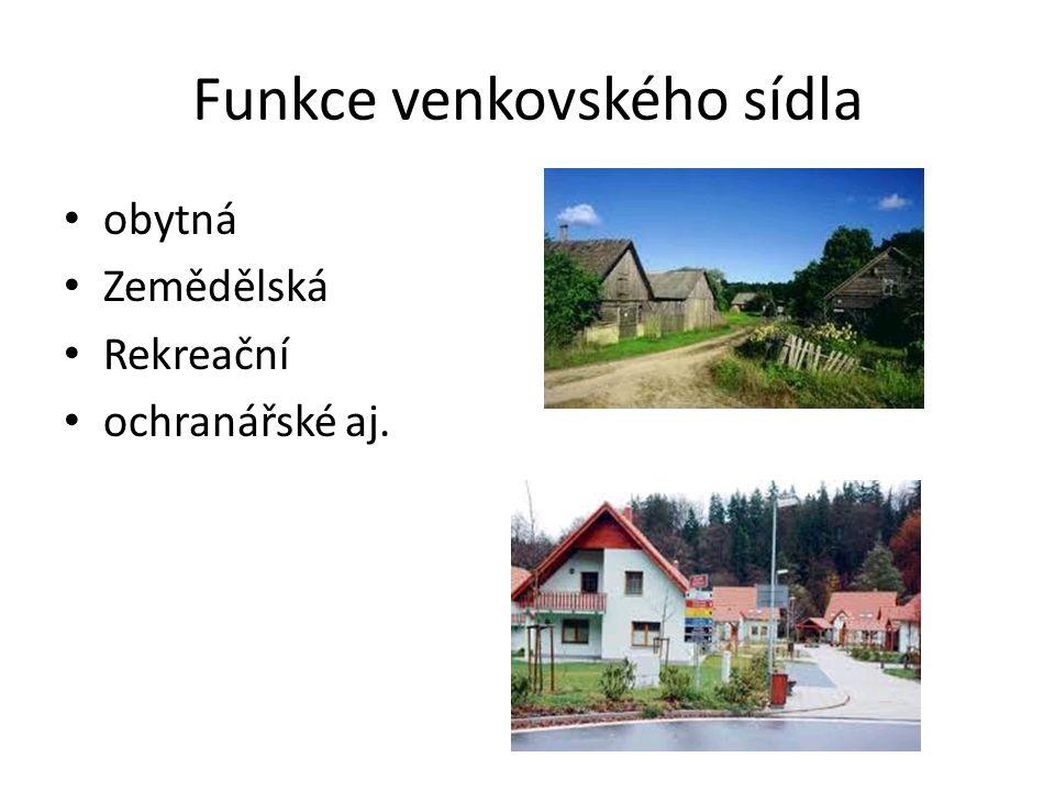 Funkce venkovského sídla
