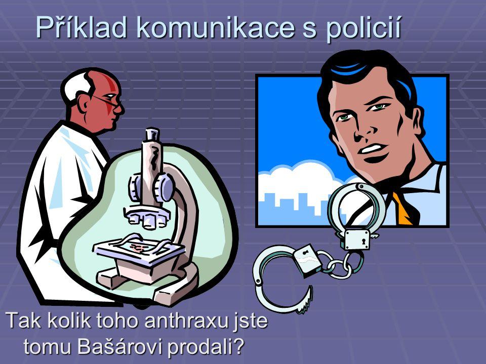 Příklad komunikace s policií