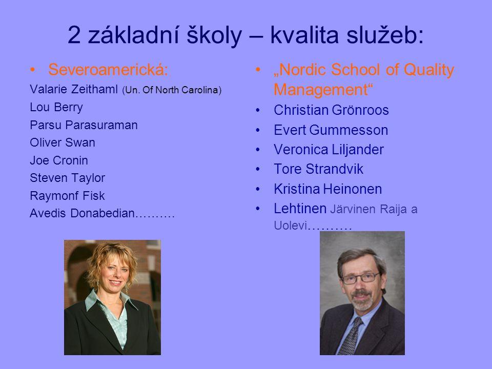 2 základní školy – kvalita služeb: