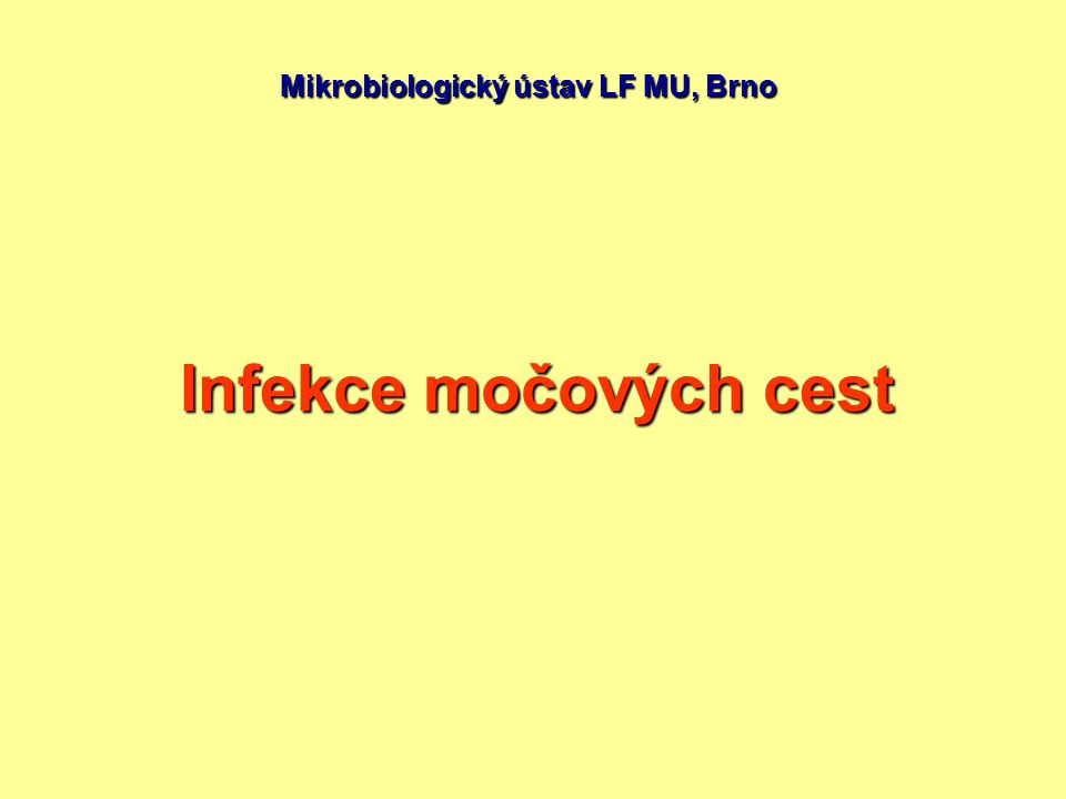 Mikrobiologický ústav LF MU, Brno
