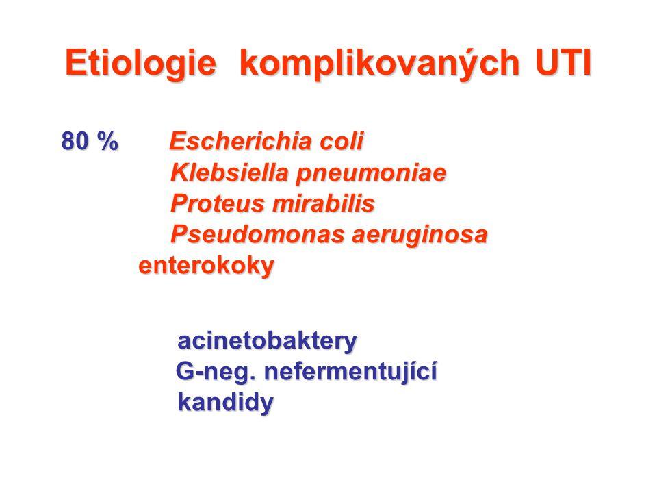 Etiologie komplikovaných UTI