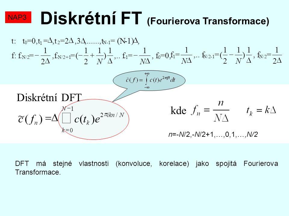 Diskrétní FT (Fourierova Transformace)