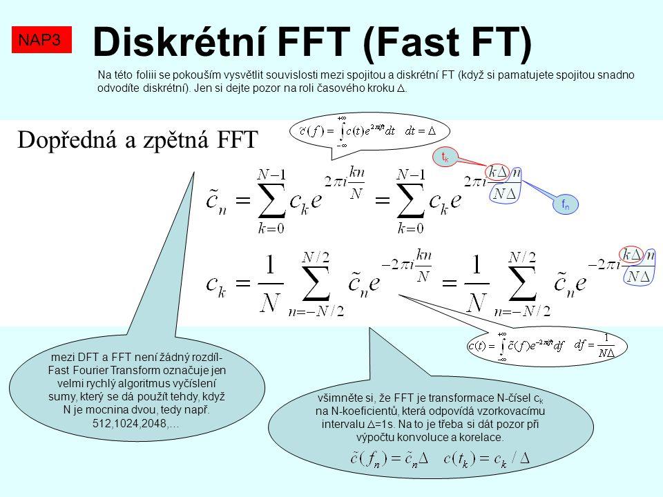Diskrétní FFT (Fast FT)