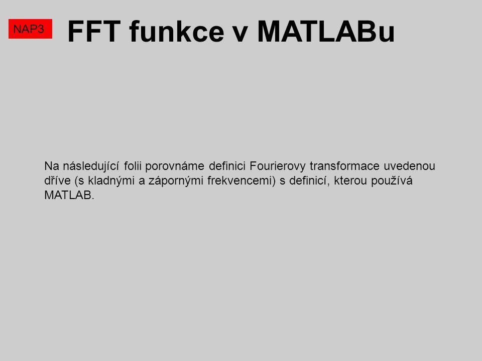 FFT funkce v MATLABu NAP3
