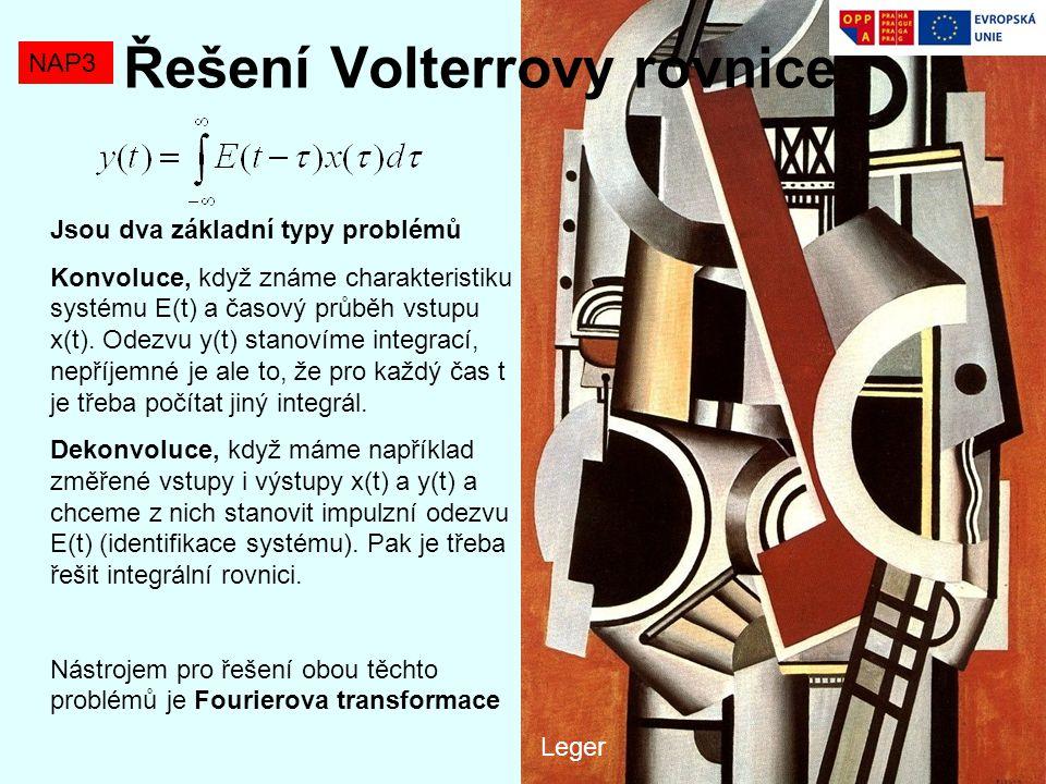 Řešení Volterrovy rovnice