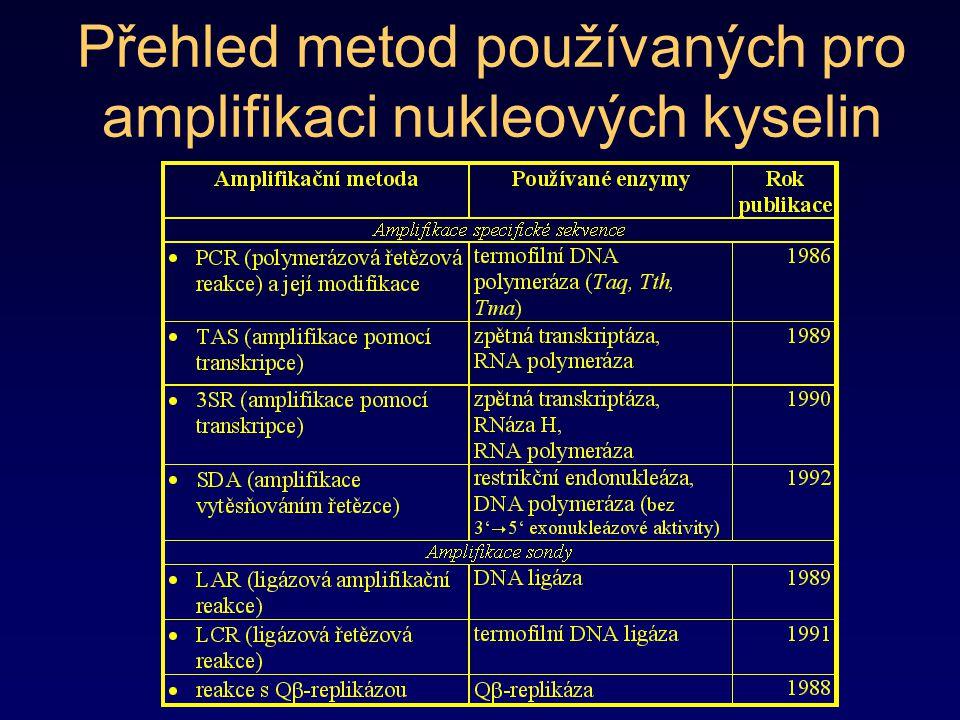 Přehled metod používaných pro amplifikaci nukleových kyselin