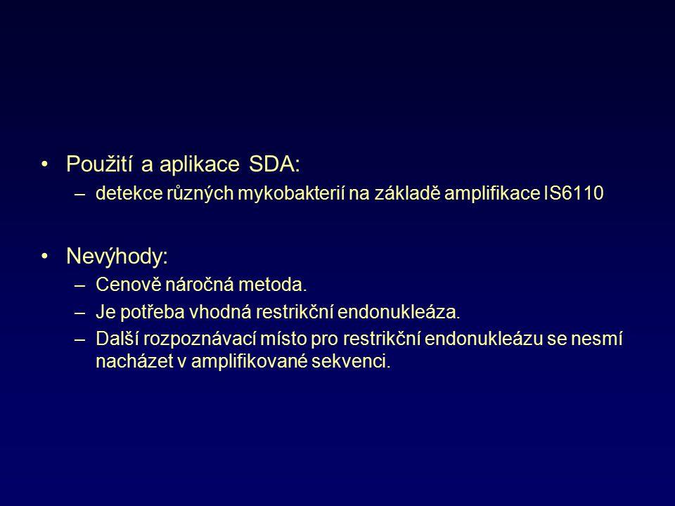 Použití a aplikace SDA: