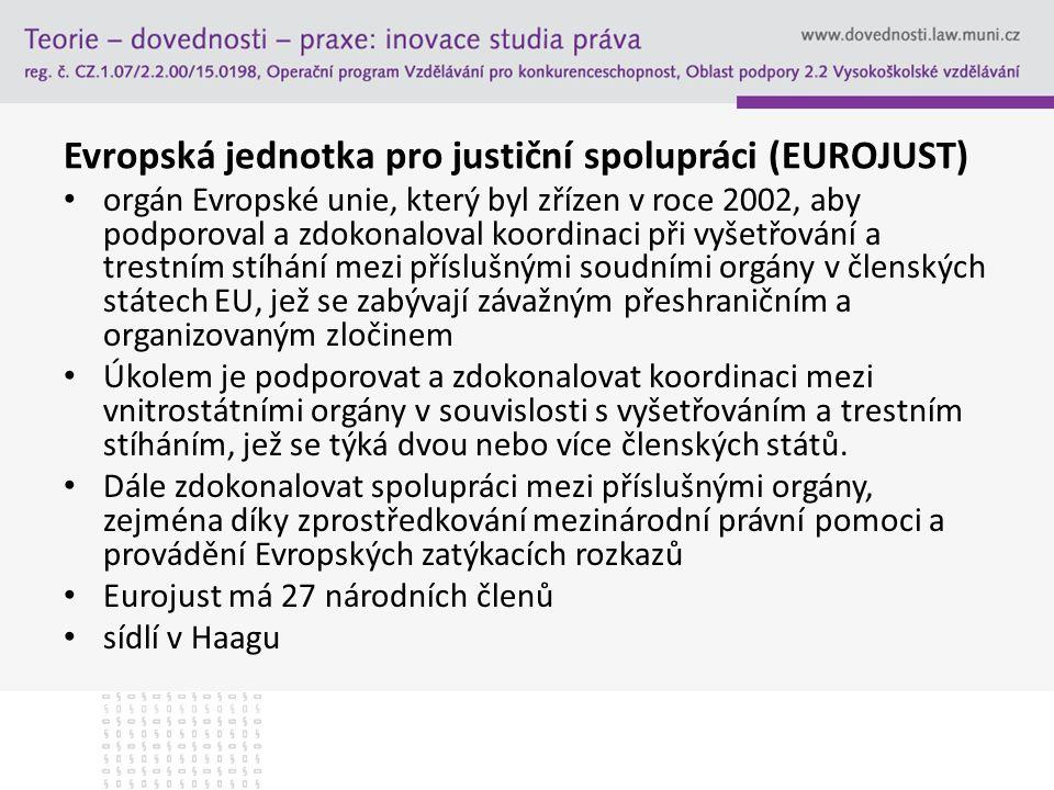 Evropská jednotka pro justiční spolupráci (EUROJUST)