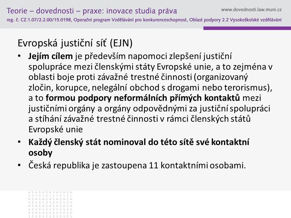 Evropská justiční síť (EJN)