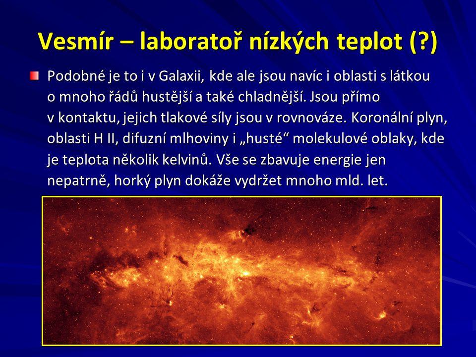 Vesmír – laboratoř nízkých teplot ( )
