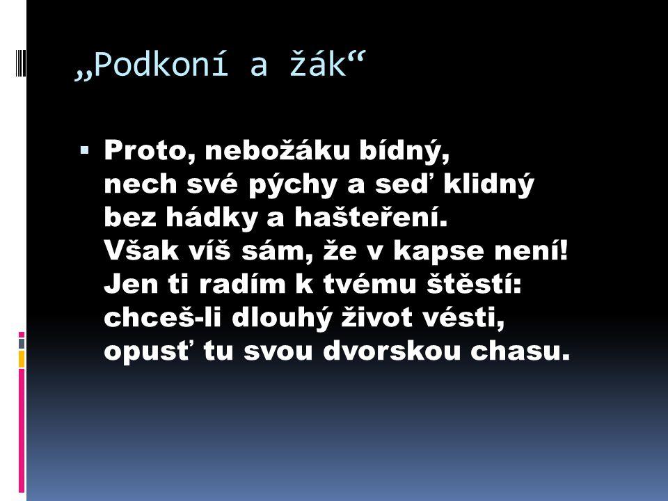 """""""Podkoní a žák"""