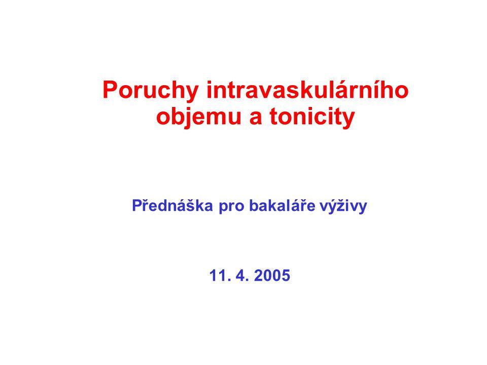 Poruchy intravaskulárního objemu a tonicity