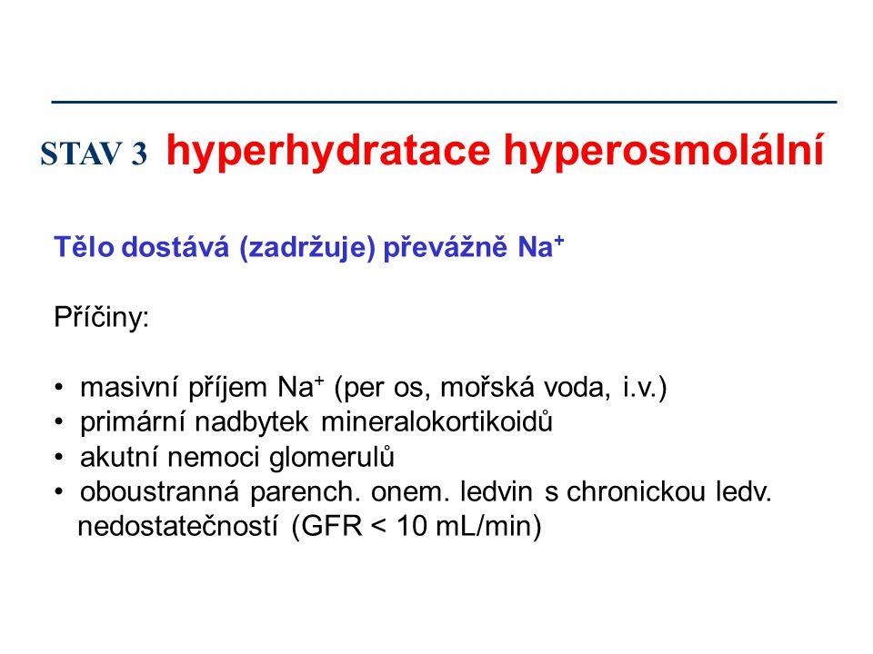 STAV 3 hyperhydratace hyperosmolální
