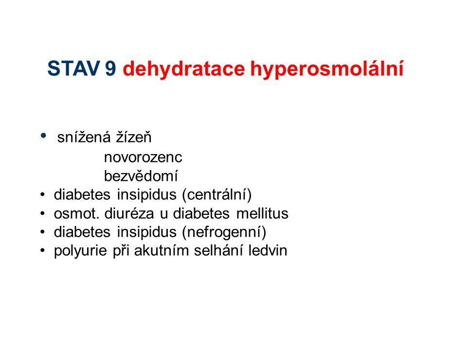 STAV 9 dehydratace hyperosmolální
