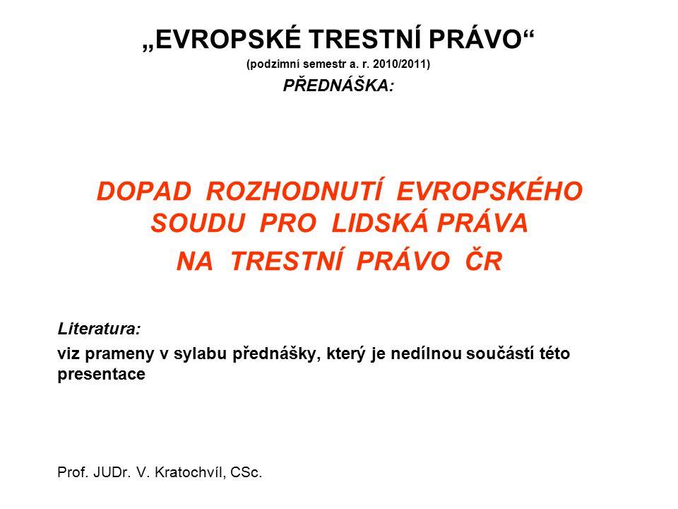"""""""EVROPSKÉ TRESTNÍ PRÁVO"""