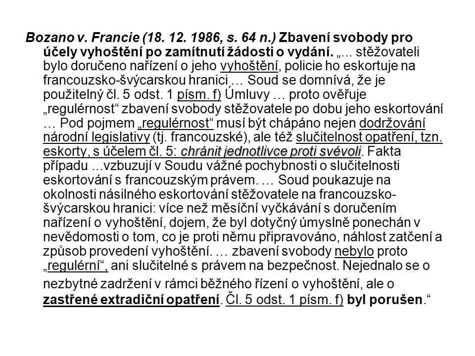 Bozano v. Francie (18. 12. 1986, s.