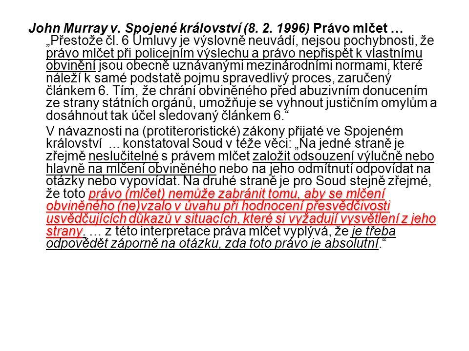 John Murray v. Spojené království (8. 2