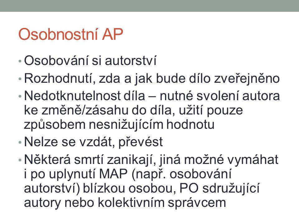 Osobnostní AP Osobování si autorství