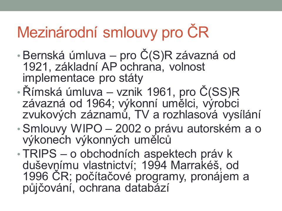 Mezinárodní smlouvy pro ČR