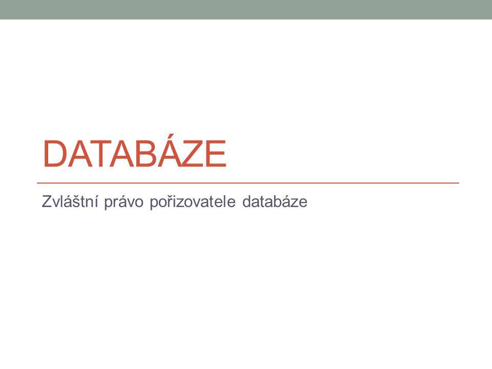 Zvláštní právo pořizovatele databáze