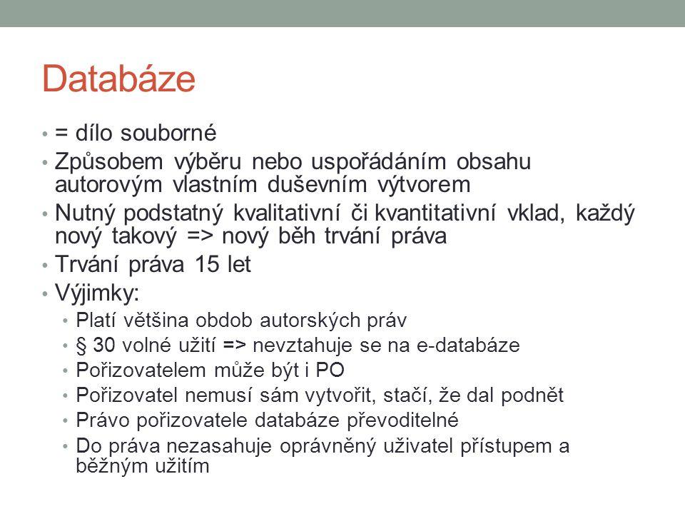 Databáze = dílo souborné
