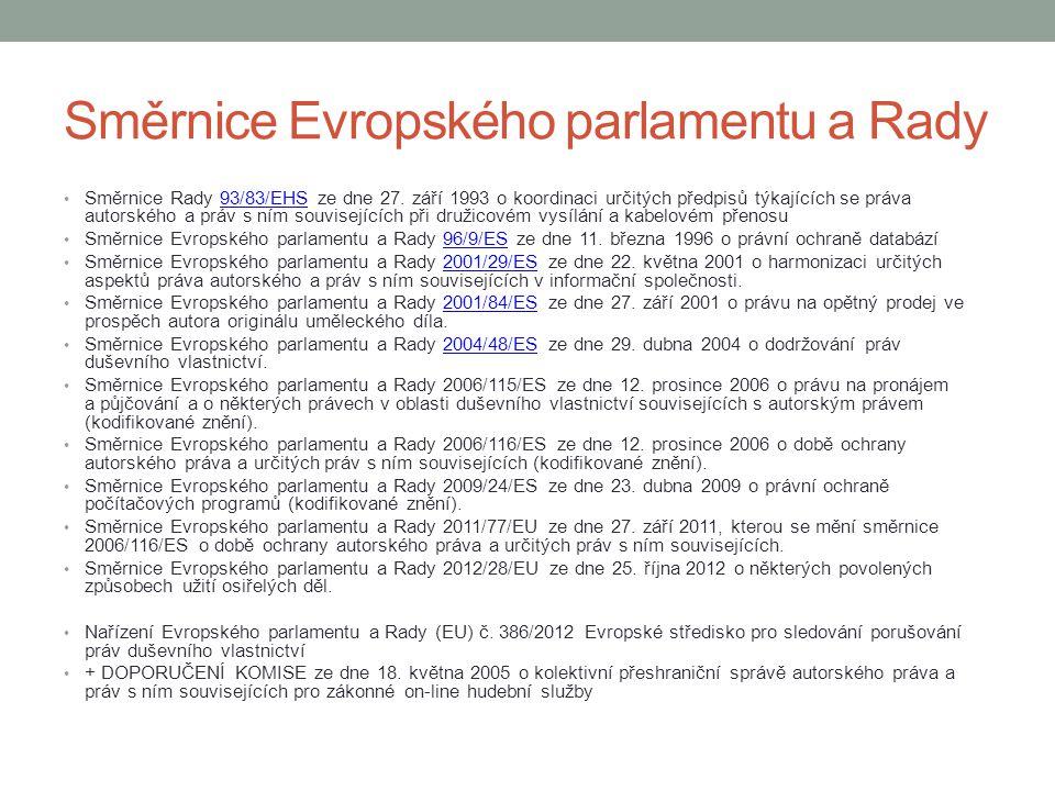 Směrnice Evropského parlamentu a Rady