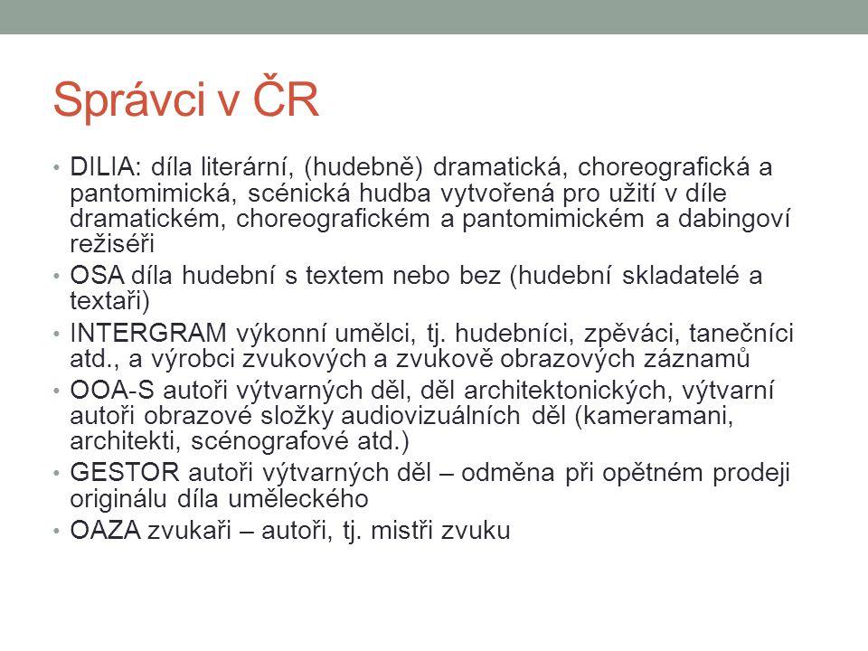 Správci v ČR