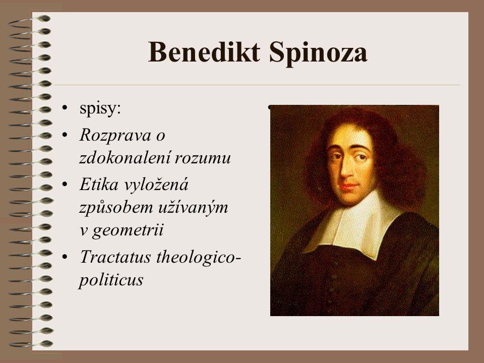 Benedikt Spinoza spisy: Rozprava o zdokonalení rozumu