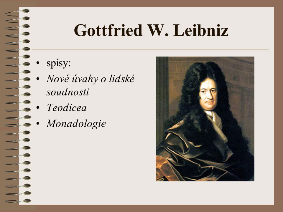 Gottfried W. Leibniz spisy: Nové úvahy o lidské soudnosti Teodicea