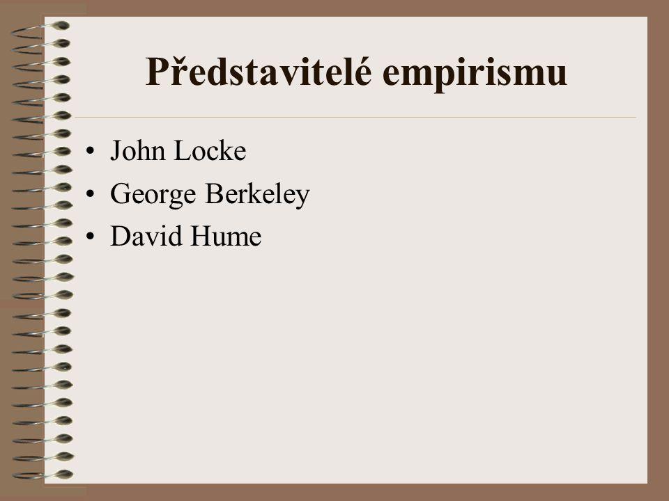 Představitelé empirismu