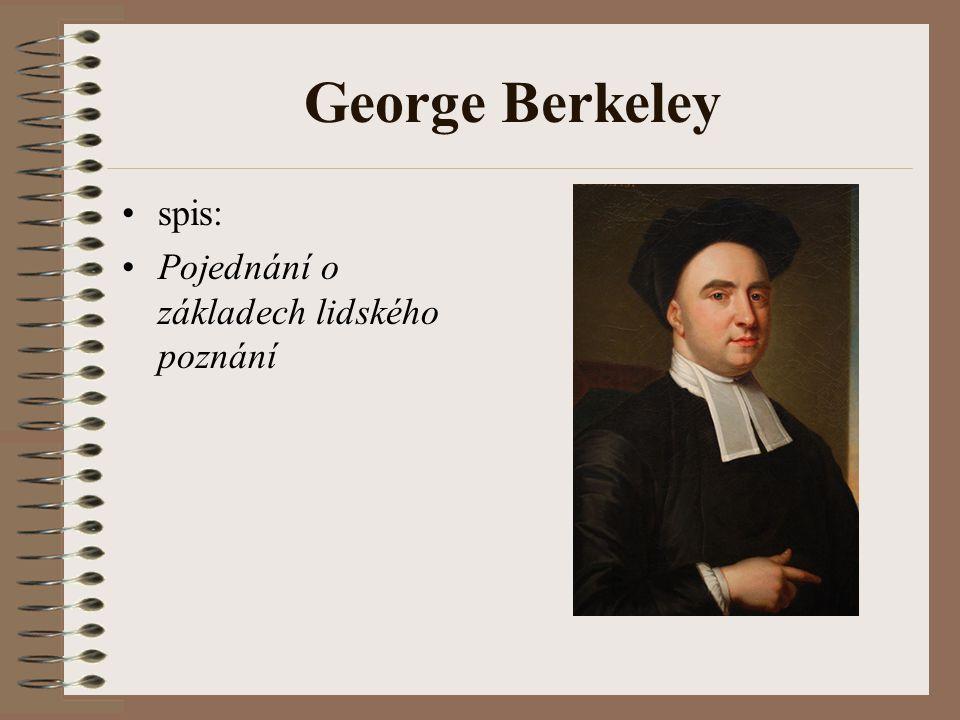 George Berkeley spis: Pojednání o základech lidského poznání