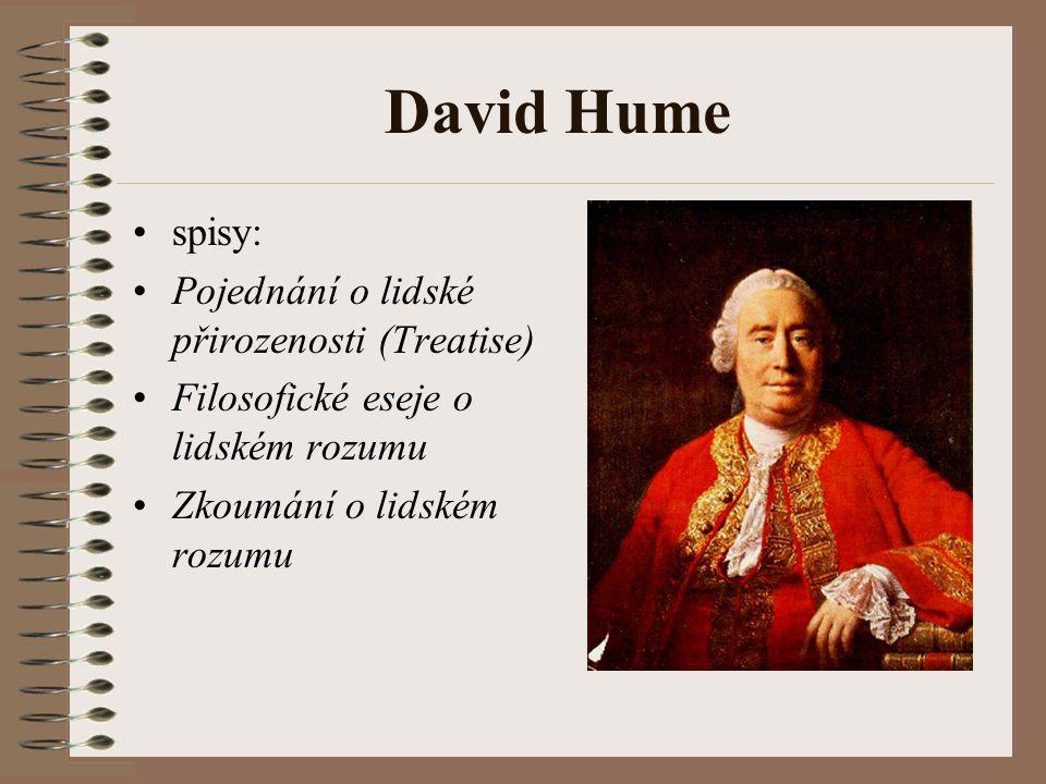 David Hume spisy: Pojednání o lidské přirozenosti (Treatise)