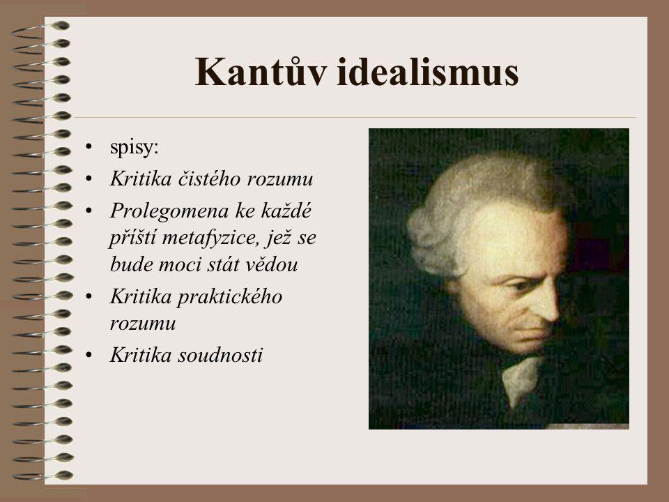 Kantův idealismus spisy: Kritika čistého rozumu