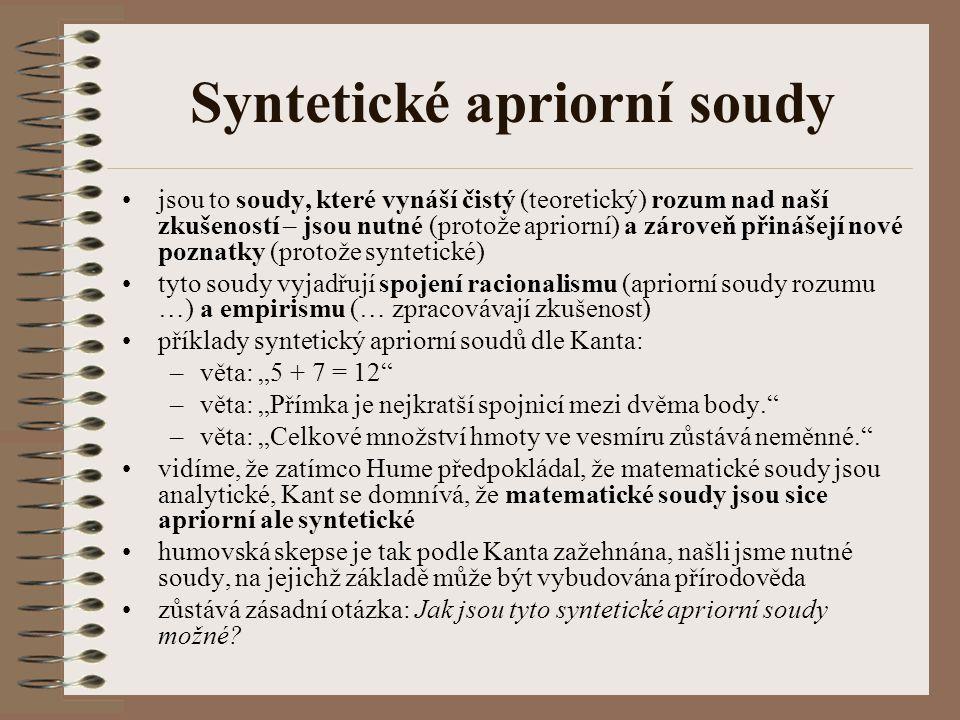 Syntetické apriorní soudy