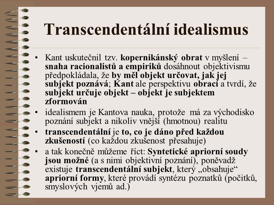 Transcendentální idealismus