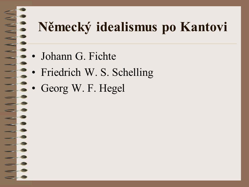 Německý idealismus po Kantovi