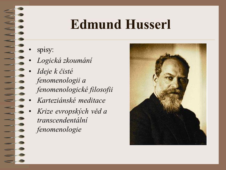Edmund Husserl spisy: Logická zkoumání