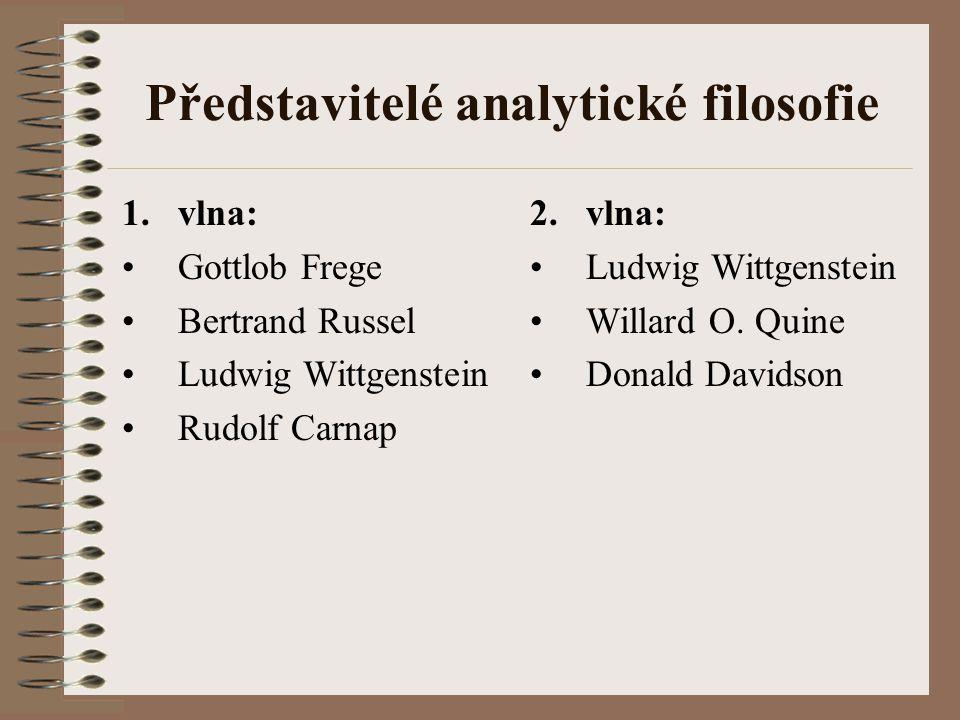 Představitelé analytické filosofie