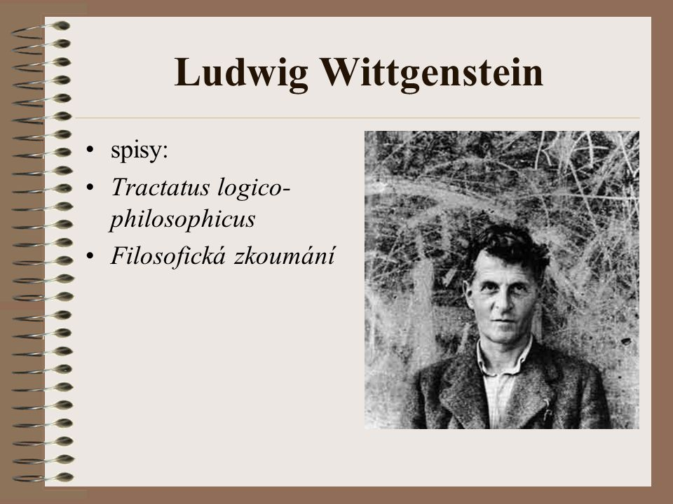 Ludwig Wittgenstein spisy: Tractatus logico-philosophicus