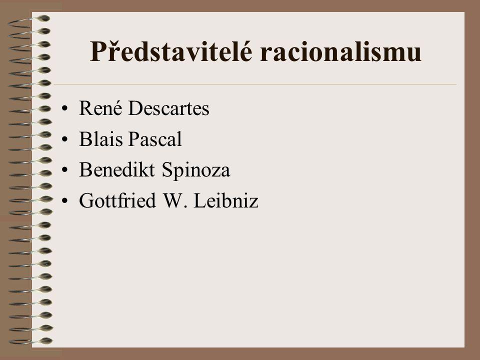 Představitelé racionalismu