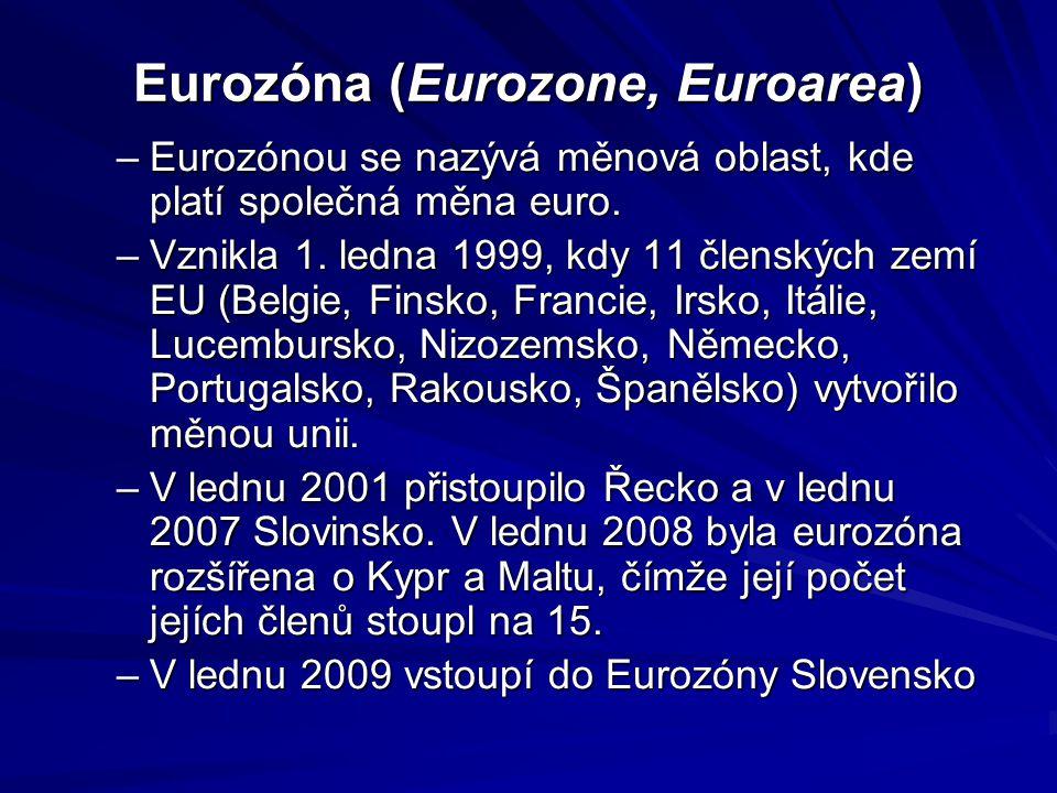 Eurozóna (Eurozone, Euroarea)