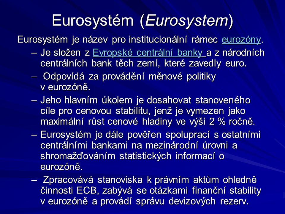 Eurosystém (Eurosystem)