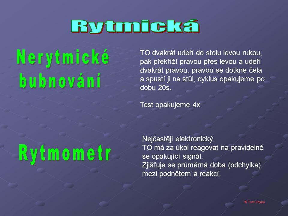 Nerytmické bubnování Rytmometr Rytmická
