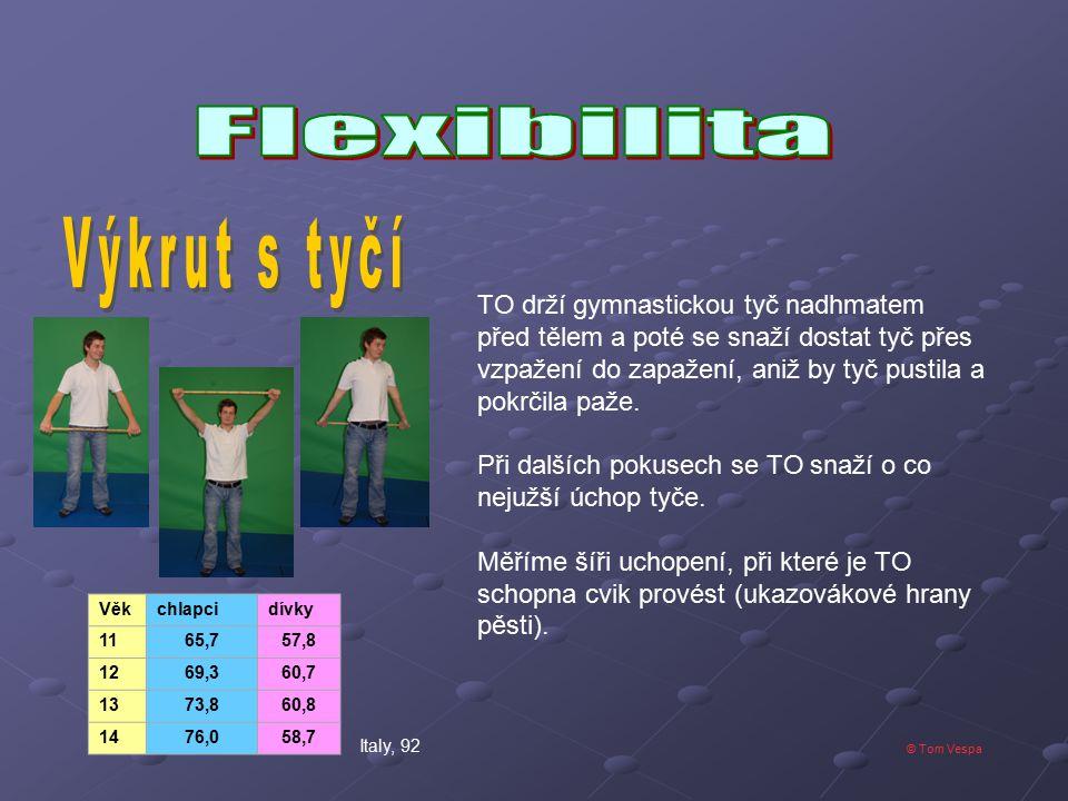 Výkrut s tyčí Flexibilita