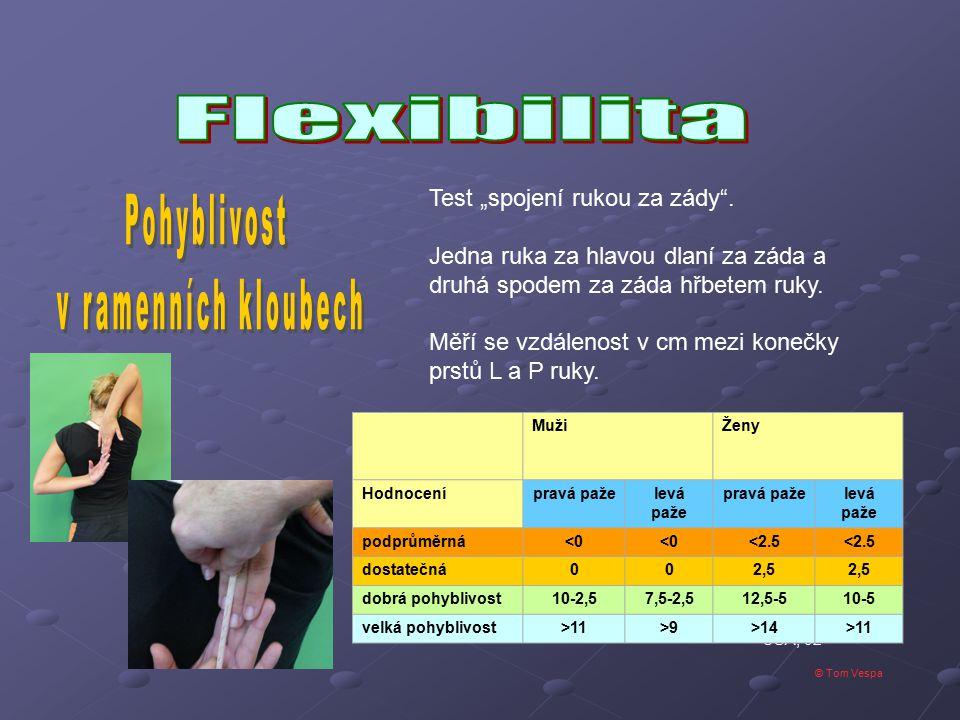 Pohyblivost v ramenních kloubech Flexibilita
