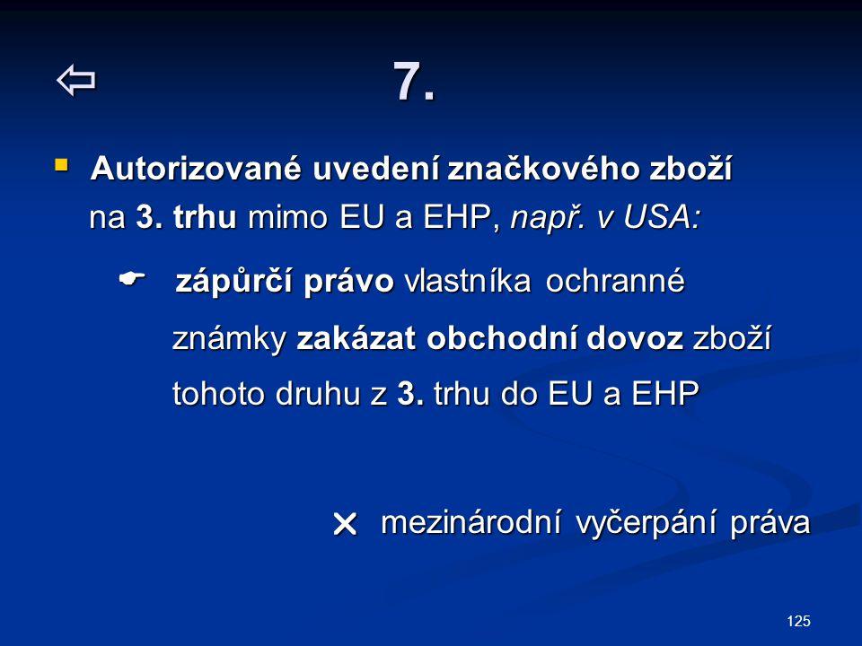  7. na 3. trhu mimo EU a EHP, např. v USA: