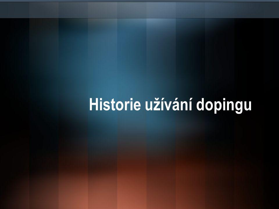 Historie užívání dopingu