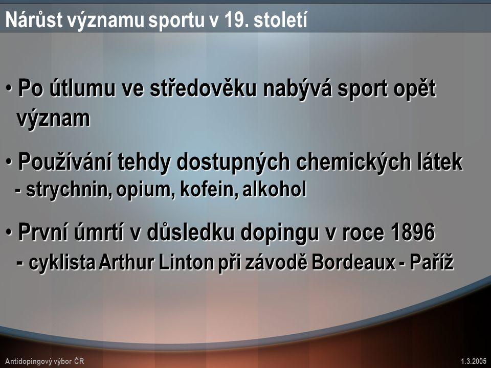 Nárůst významu sportu v 19. století