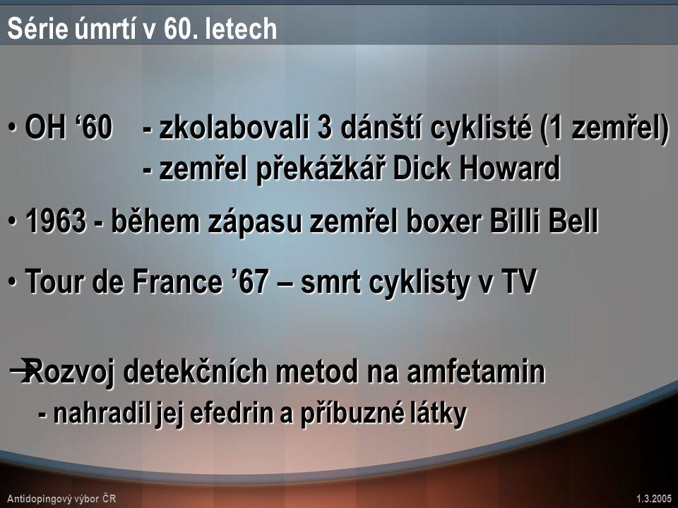 1963 - během zápasu zemřel boxer Billi Bell